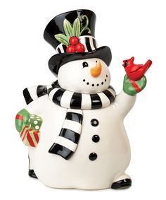 Fitz and Floyd Frosty's Frolic Snowman Cookie Jar . One special piece to bring out to start holiday family traditions and memories. THIS is adorable. Christmas Cookie Boxes, Christmas Dishes, Christmas Tea, Holiday Cookies, Christmas Snowman, Merry Christmas, Whimsical Christmas, Christmas Themes, Christmas Holidays