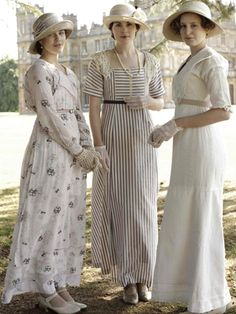 Downton Abbey: Mary, Edith and Sybil - LOVE this series! Oh, how I wish we still dressed like this!