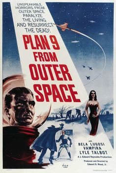 Plan 9 from Outer Space posters for sale online. Buy Plan 9 from Outer Space movie posters from Movie Poster Shop. We're your movie poster source for new releases and vintage movie posters. Horror Movie Posters, Old Movie Posters, Classic Movie Posters, Movie Poster Art, Horror Films, Classic Movies, Print Poster, Films Étrangers, Cult Movies