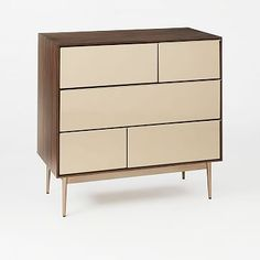 Nouveau Mirror 5-Drawer Dresser #westelm