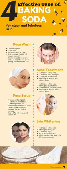 Natural & DIY Skin Care : baking soda for face – Baking soda for face can be a good option for getting rid of skin issues. Everyone's dream is to get a clear and beautiful skin. -Read More – Acne Treatment, Skin Treatments, Cosmetic Treatments, Beauty Care, Beauty Skin, Beauty Hacks, Beauty Secrets, Diy Beauty, Face Masks