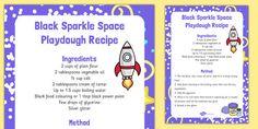 Black Sparkle Space Playdough Recipe - black, sparkle, space, playdough
