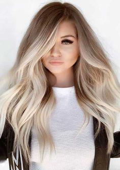 ombre hair looks that diversify common brown and blonde ombre hair 1 Blonde Hair With Highlights, Brown Blonde Hair, Blonde Wig, Bleach Blonde, Gray Hair, Blonde Pixie, Brunette Hair, Blonde Hair With Dark Roots, Light Brunette