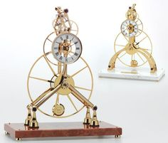 An example of a skeleton clock Chris of Clickspring presents a fascinating step by step process of how to build a clock from scratch. More than a tutorial,
