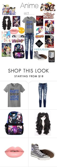 """Anime"" by otaku-musiclover ❤ liked on Polyvore featuring Current/Elliott, Lime Crime and Converse"