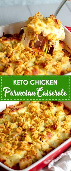 Delicious Keto Chicken Parmesan Casserole