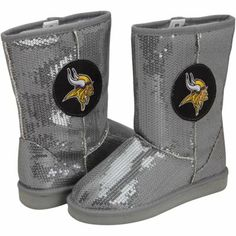 Minnesota Vikings Ladies High-End Sequin Boots