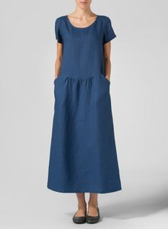 MISSY Clothing - Linen Short Sleeve Dress