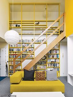 Council Estate, One Bedroom Flat, Yellow Home Decor, Barbican, Spare Room, Brutalist, London City, Home Renovation, Living Spaces
