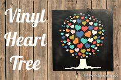 Land of Nod inspired Vinyl Heart Tree Wall Art --- Adorable for a little girl's bedroom or nursery!