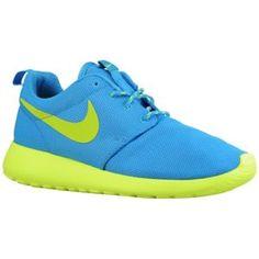 Nike Roshe Run - Women's - Sport Inspired - Shoes - Blue Glow/Volt/Volt