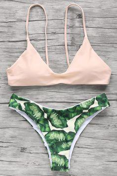 $12.39    Palm Tree Spaghetti Straps Bikini