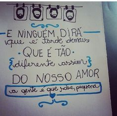 Sobre o nosso amor... #loshermanos