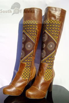 Tan Boots. $86.00, via Etsy.