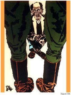 Dégouté. 1996. Nicogermain Stencil Graffiti, Stencils, Artworks, Street Art, Joker, Fictional Characters, Art Pieces, Jokers, The Joker