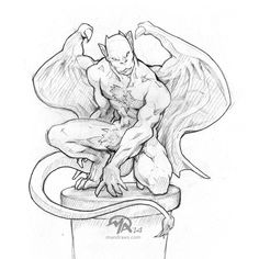 small gargoyle tattoo outline - Google Search