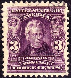 Andrew Jackson 1903 Issue-3c - U.S. presidents on U.S. postage stamps - Wikipedia, the free encyclopedia