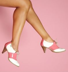 Because they're pink, high-heeled saddle shoes! - Love these! I would love love love to find a pair!