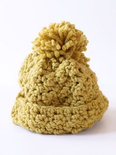 Ravelry: free crochet hat pattern from Lion Brand, using bulky size 6 yarn