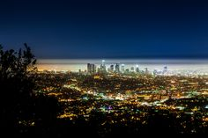 Downtown Los Angeles View from Griffith Observatory. Sometimes LA is a beautiful place.