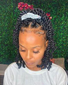 Black Girl Braided Hairstyles, Twist Braid Hairstyles, Baddie Hairstyles, African Braids Hairstyles, My Hairstyle, Lil Girl Hairstyles, Black Women Hairstyles, Wedding Hairstyles, Curly Hair Styles