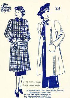 Lutterloh 1938 Book Of Cards -  Models Card 26