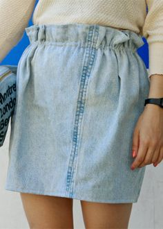 recycled jeans skirt