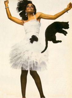 """""""Paris… When It Sizzles!"""", Vogue US, April 1982 - Photographer : Bill King - Model : Wanakee Pugh"""