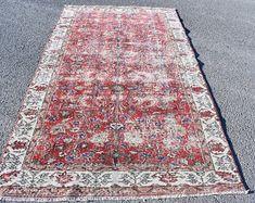 Turkish rug Oushak rug Vintage rug Turkey rug by turkishrugstar Black Rug, Vintage Rugs, Bohemian Rug, Turkey, Decoration, Handmade Gifts, Home Decor, Decor, Kid Craft Gifts