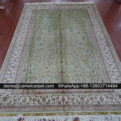 Turkish silk carpet,handmade,6x9ft