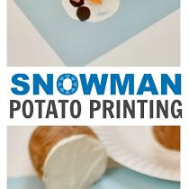 Winter Craft: Snowman Printing