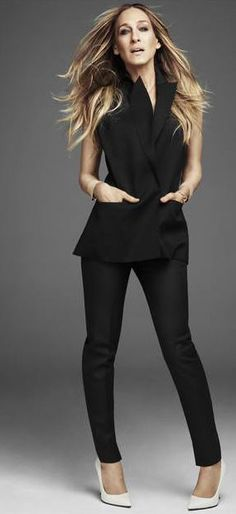 SJP in black  Pinterest @ellebelle317