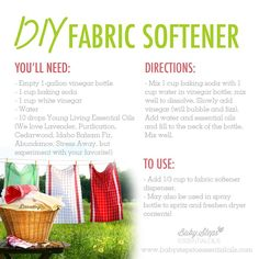 Young Living Essential Oils: Fabric Softener | For more info, visit:  www.thesavvyoiler.com