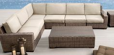 Furniture Sofa Set, Rattan Furniture, Outdoor Furniture, Outdoor Decor, Fire Pit Near Pool, Backyard Fences, Natural Home Decor, Outdoor Spaces, Home Furnishings