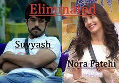 Nora Fatehi and Suyyesh Eviction Eliminated Evicted Eliminated Contest Sunday 03 January Bigg Boss 9