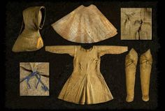 Artefact[Artefact] complete medieval outfit dating from found on boksten man bog body in sweden Medieval Life, Medieval Fashion, Medieval Costume, Medieval Dress, Historical Costume, Historical Clothing, Vikings, 14th Century Clothing, Bog Body