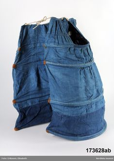Paniers hoop skirt blue 18th century underwear
