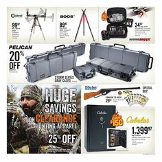 Cabela's Pre-Black Friday 2018 Ads Scan, Deals and Sales - Black Friday Ads, Hunting Clothes, Coupons, Stuff To Buy, Check, Coupon