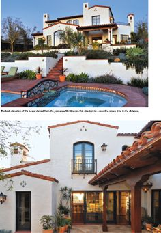 Spanish style home with a great pool designed by Andrew Wright, Architect and Paul Schatz, Interior Designer