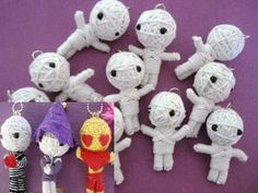 Cute Halloween Crafts | 10pc Halloween Cute Mummy Craft Doll (H330) --These are totes adorbs--but a little too ambitious for a library program???