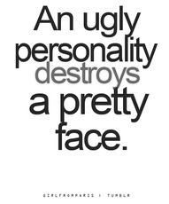 ❥ Can I get an Amen?.....and a beautiful personality can make the ugliest of ppl into a dream!
