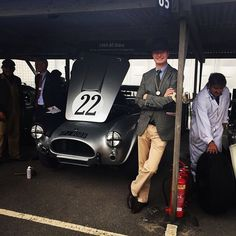 Team RM Europe has left Battersea and travelled down the road to Goodwood!!! Pictured here is car specialist Michael Squire with his Shelby Cobra, which he'll be racing in the RAC TT Celebration race this weekend!!! #rmsothebys #rmontheroad #goodwood #goodwoodrevival #heylittlecobra