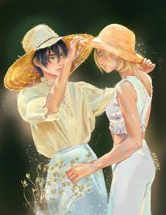 Mikasa, Armin, Anime Manga, Anime Art, Annie Leonhardt, Ymir And Christa, Historia Reiss, Rivamika, Attack On Titan Fanart