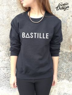 "BASTILLE Band Jumper Top Sweater Music Rock Tour Tumblr Pompeii Of the night bastile<---- 1) its ""BASTILLE"" and 2) I WANT"