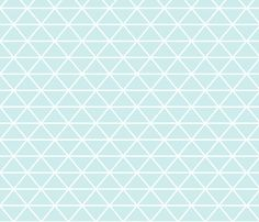 Triangle Baby Blue fabric by curious_nook on Spoonflower - custom fabric