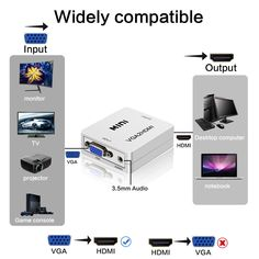 New Hot VGA2HDMI Mini VGA to HDMI Converter with 1080P Audio Adapter Connector for Notebook PC for HDTV Projector  Price: 9.99 & FREE Shipping #computers #shopping #electronics #home #garden #LED #mobiles #rc #security #toys #bargain #coolstuff |#headphones #bluetooth #gifts #xmas #happybirthday #fun Projector Price, Mobiles, Monitor, Console, Computers, Bluetooth, Desktop, Headphones, Happy Birthday