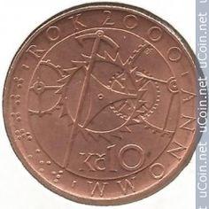 Moneta> 10 Korun, 2000 - Czechy (Millennium - rok 2000) - awers