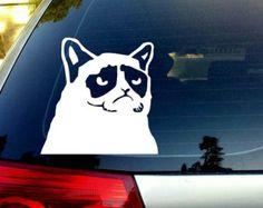 grumpy cat car decal – Etsy