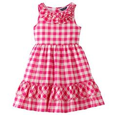 Chaps Gingham Dress - Toddler