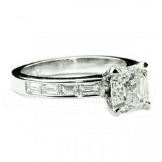 Channel Baguette Diamond Engagement Ring